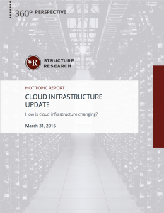 Cloud Infrastructure Update: How is it changing?