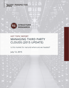 Managing Third Party Clouds: 2015 Update