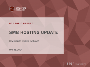 Hot Topic Report: SMB Hosting Update