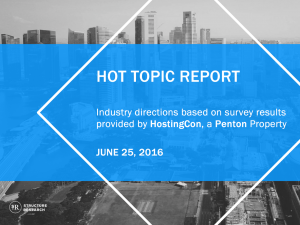 Hot Topic Report: HostingCon Survey Results